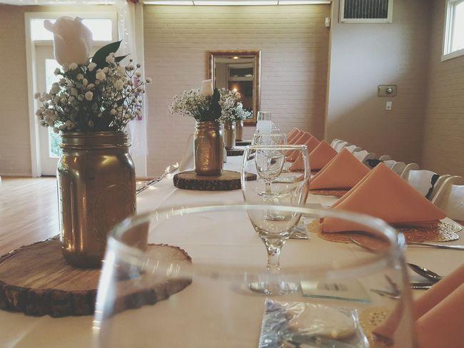 Wedding Day Wedding Photos Gold Mason Jars Check This Out Ceremony Pink Elegant Arrangement Table Setting Wedding Table Posh