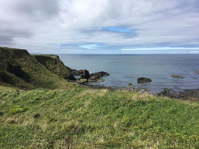 I Ireland Ocean Nature Outdoors Cliffs Green
