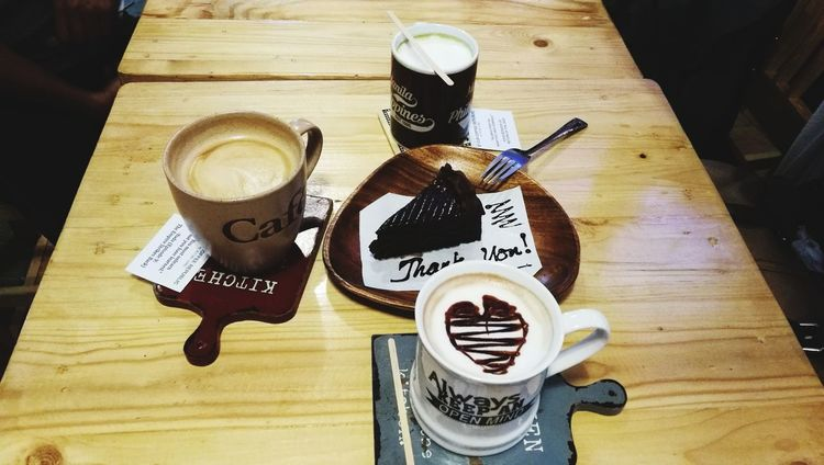 High Angle View Table Still Life Coffee - Drink Indoors  Drink Food And Drink Coffee Cup Wood - Material No People Day Freshness Close-up