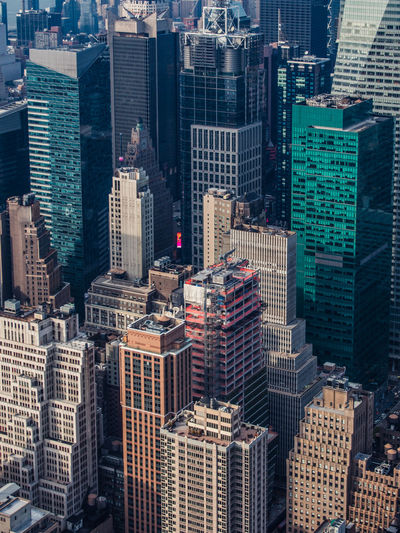 Aerial view of buildings in New York City New York New York City New York ❤ New York, New York Architecture Building Exterior Built Structure City Cityscape Day Downtown Downtown District High Angle View Modern No People Office Park Outdoors Skyline Skyscraper Tall Tower Travel Destinations Urban Skyline No Logos