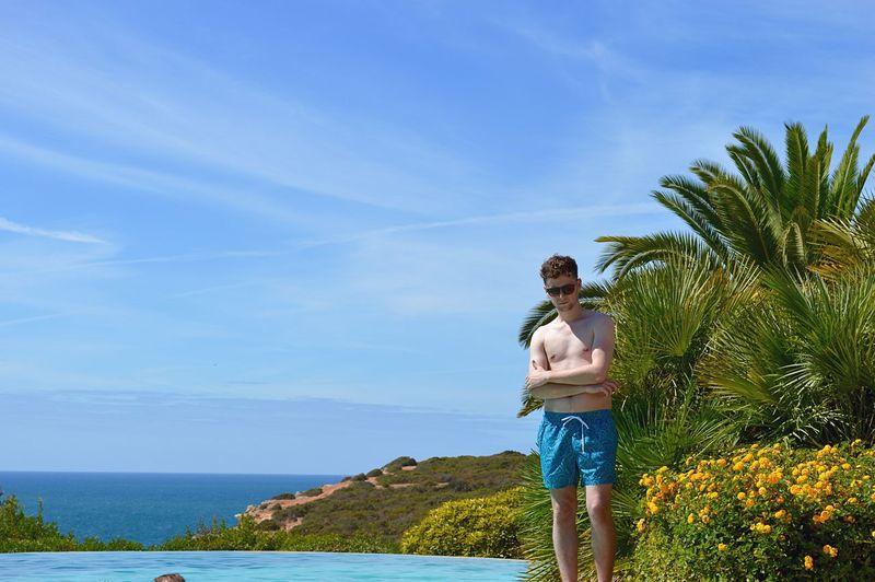 Portugal Poolside Sun Pose Taking Photos Enjoying Life Infinity Summer Summertime Holiday