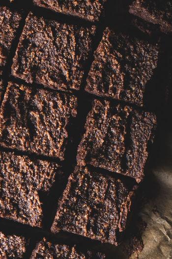 Full frame shot of chocolate cake