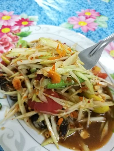 Food And Drink Ready-to-eat Close-up Food Korad StyleSpicypapaya Salad