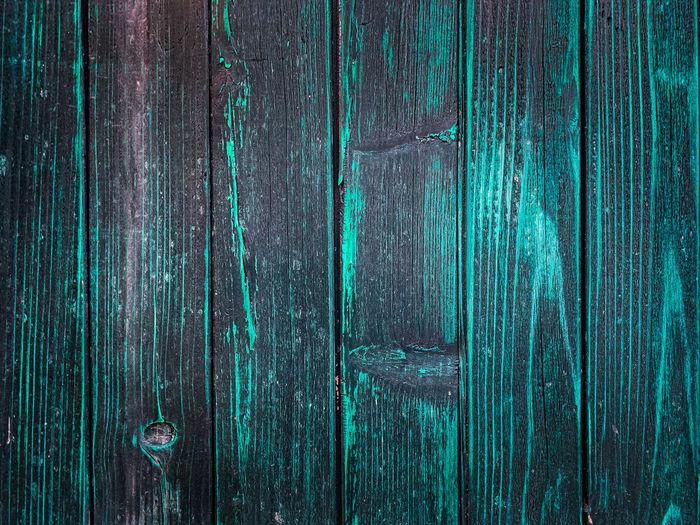 Full frame shot of blue wooden door