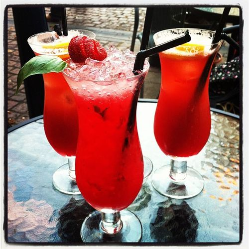 Drinks Cocktails Red Refreshment