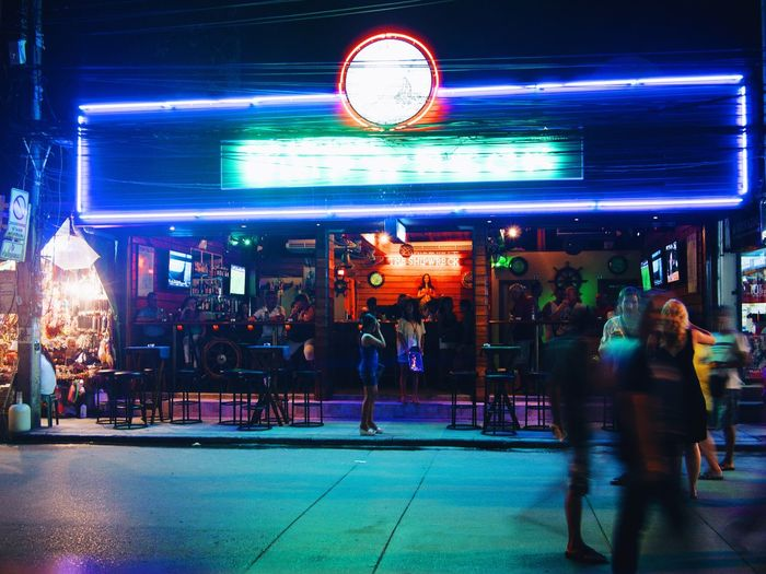 Thailand Thailand Night Neon Bar Night Street