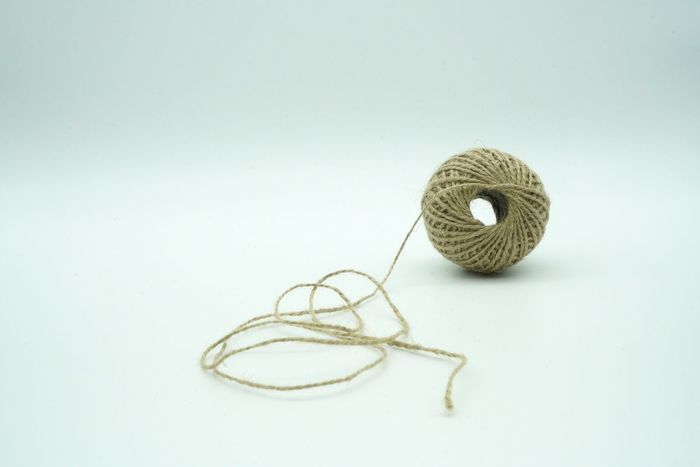 Art And Craft White Background No People Studio Shot Indoors  Close-up Day Yarn Sewing Rope LINE String