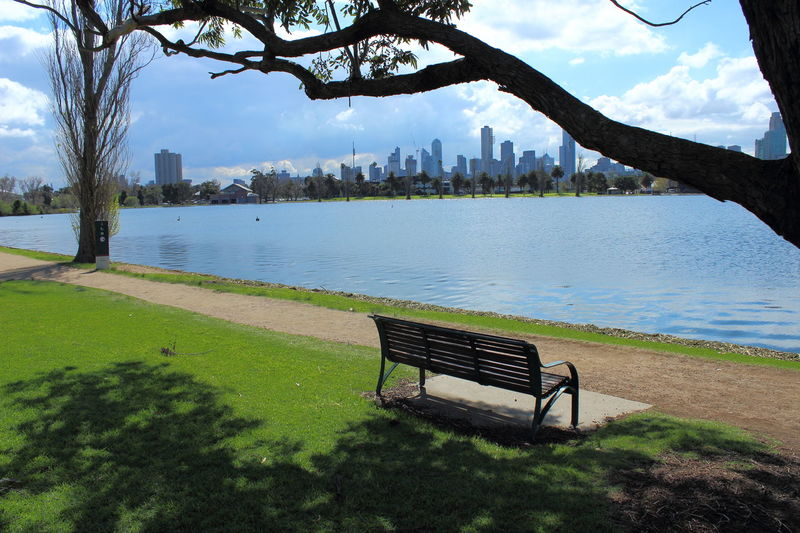 Albert Park Albert Park Lake Architecture Australia Beauty In Nature Bench Bench City Life City Park Cityscape Growth Lake Melbourne Melbourne City Nature No People Outdoors Park - Man Made Space Relaxation Seat Sky Skyscraper Travel Tree Water Been There.