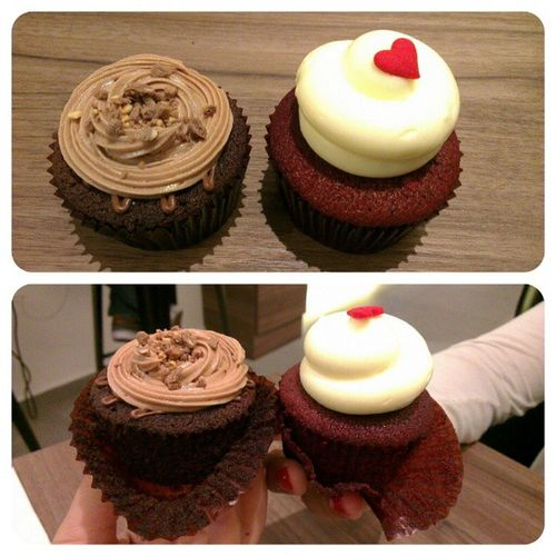 Sweet treats with @nurhidayahhh Twelvecupcakes Redvelvet Nutella