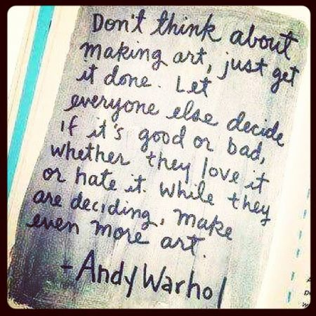 I LoVe ANDY WARHOL ☺♥ He's My Inspiration ;) Andywarhol Love Popart Inspiration Quote Myquote ;) ♥