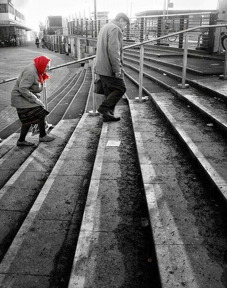 Blackandwhite Colorsplash Streetphoto_bw Little Red Riding Hood Rotkäppchen