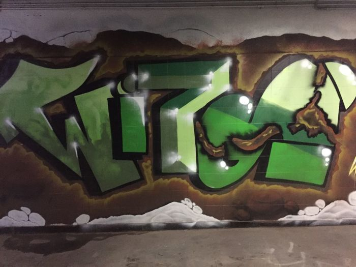Green Color Art And Craft No People Indoors  Wall - Building Feature Creativity Close-up Wall Representation Illuminated Text Graffiti Architecture