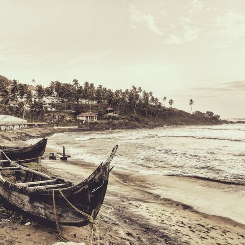 Wreckages: Remnants of time and proofs of the power within!! Beach Boats⛵️ Wrecked Boat. Kerala India Kovalam Beach Trivandrumdiaries Finding New Frontiers