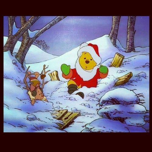 """That's no Sandy Clause... that's a Pooh!"" -Tigger Winniethepooh Tigger Eeyore Piglet Rabbit Owl Disney Disneycharacters Original Ilovedisney"