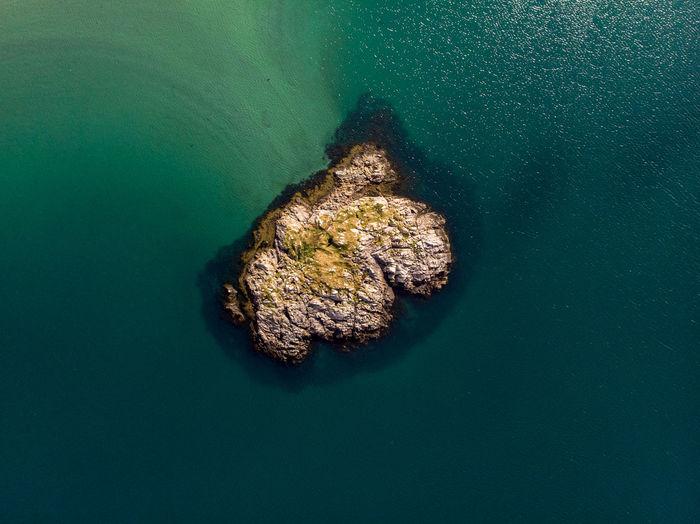 A small island in the cold north sea. barents sea