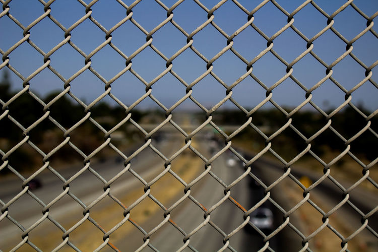 Full Frame Of Chainlink Fence