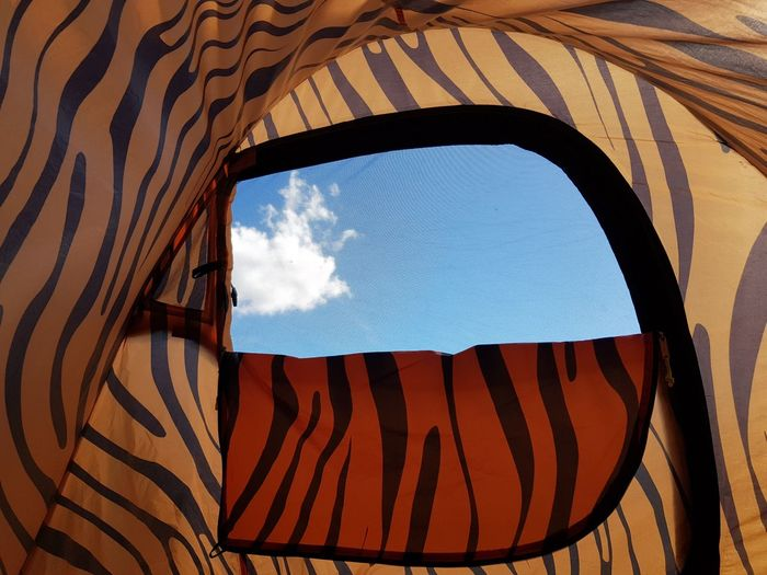 Outdoors Hobby Camping Blue Sky Summer Pop Up Tent Cloud EyeEm Selects Full Frame Window Pattern Sky Close-up Countryside Visual Creativity #FREIHEITBERLIN