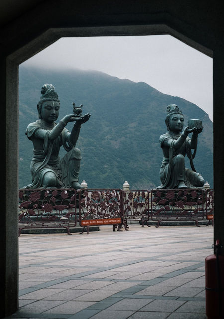 Tian Tan Buddha (Giant Buddha) 天壇大佛 Day Human Representation Male Likeness Mountain Ngongping360 No People Outdoors Sculpture Sky Statue Tian Tan