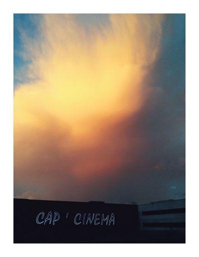 Le cap Sky Sunset Cloud - Sky Auto Post Production Filter Transfer Print Orange Color No People