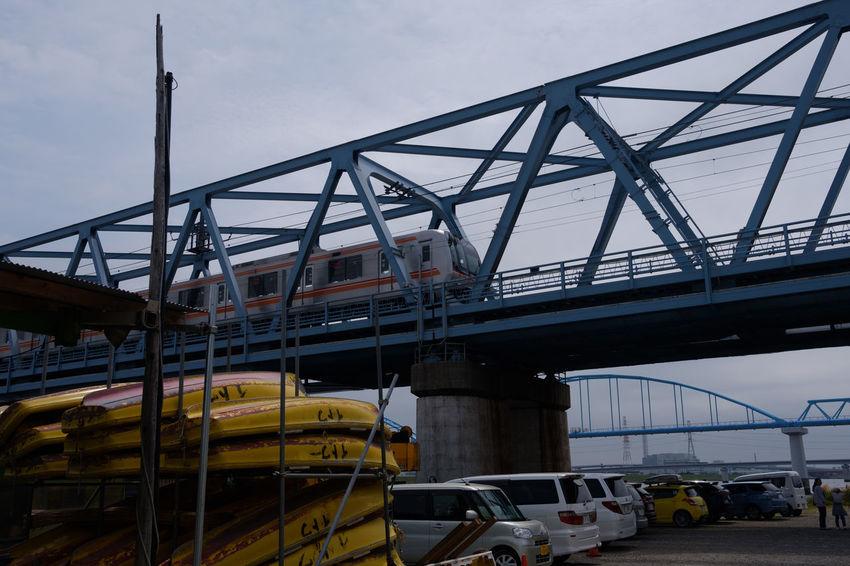Architecture Bridge Built Structure Fujifilm FUJIFILM X-T2 Fujifilm_xseries Ichikawa Japan Japan Photography Myoden Sky Train Train - Vehicle X-t2 妙典 市川 東西線 鉄橋 電車