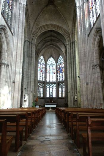 Religion Window Built Structure Architecture History Spirituality Tourism Travel Destinations Day No People Indoors  Church Cathedral Church Benches Hall Sacral Building Sacral Architecture Gothic Architecture