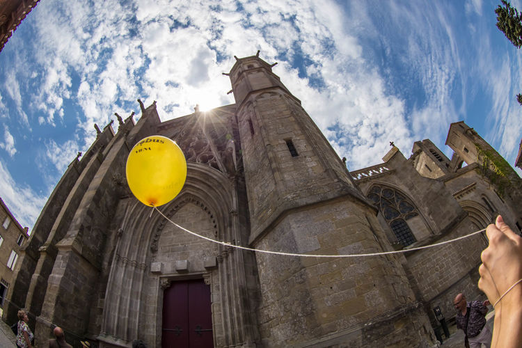 all we need is faith... (30 stm) Architecture Basilica Built Structure Fisheye FishEyeEm From My Point Of View Low Angle View Medieval Sky Tourist Attraction  Travel Destinations