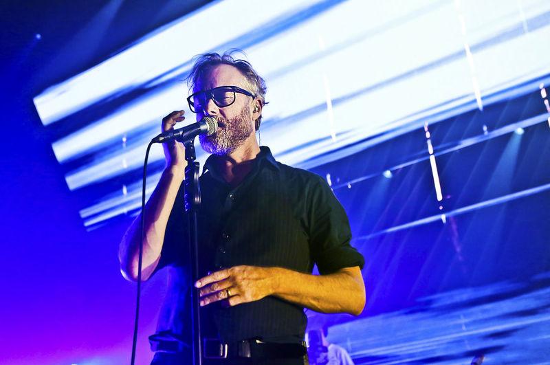 Matt Berninger Music Singer  The National Microphone Microphone Stand Music Photography  Musician