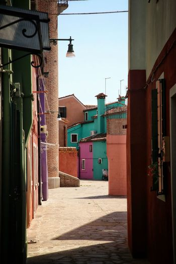 Corridor Along Buildings