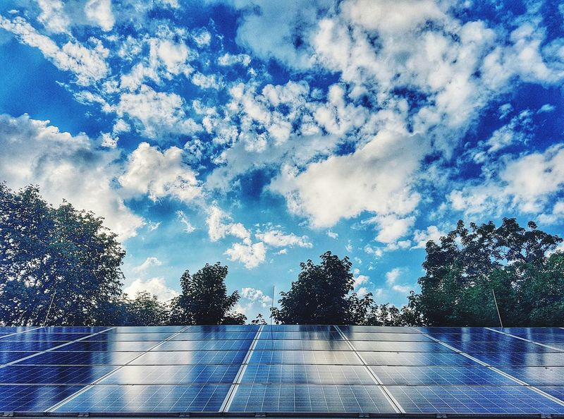 Cloud - Sky Solar Panels Clean Energy Future No People Outdoors EyeEm Selects Solar Technology Power From Nature