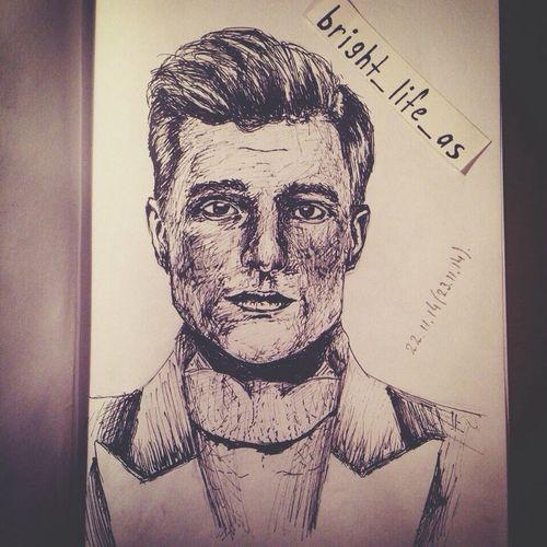 From my Instagram☺️ Cute Draw Drawing Exciting Josh Hutcherson Josh Hungergames