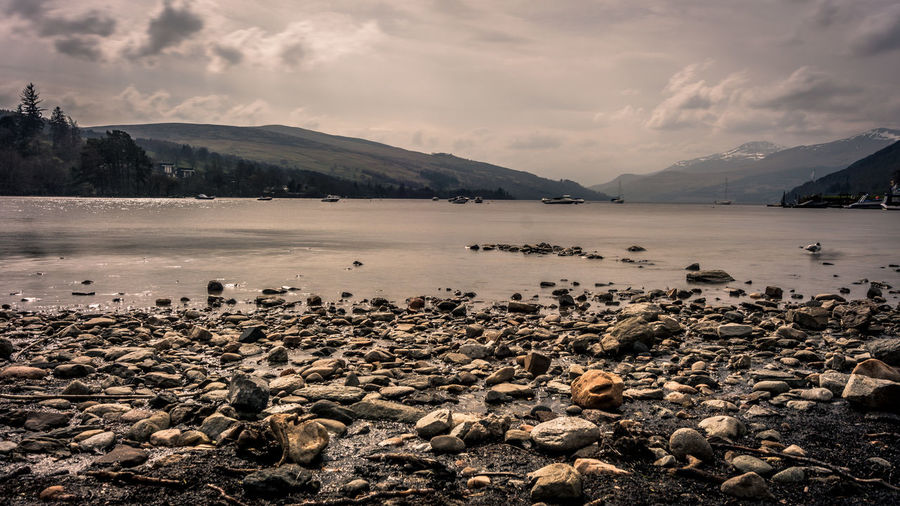 Water Cloud - Sky Beauty In Nature Scenics - Nature Sky Mountain Tranquil Scene Tranquility Nature No People Day Loch Tay Dalerb Kenmore Scotland Landscape Long Exposure