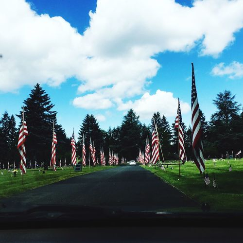 Memorial Day Honoring The Fallen Cemetery American Flag Freedom