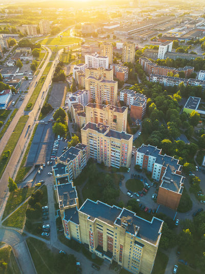 Residential buildings Aerial Shot Architecture Block Flats Block House DJI X Eyeem Drone  Lietuva Aerial Aerial View Architecture Building Building Exterior Built Structure City City Life Cityscape Day Europe High Angle View Mavic Mavic Pro Motor Vehicle Nature No People Old Outdoors Residential Building Residential District Road Street Sunlight Transportation