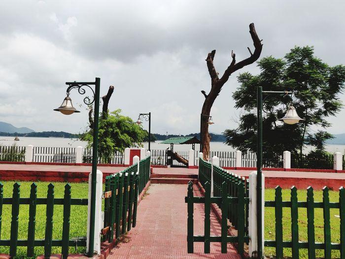 the gateway to heaven Brahmaputra Riverside Riverview The Great Outdoors - 2018 EyeEm Awards Tree Gate Sky Cloud - Sky