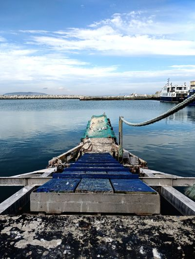 Cape Town South Africa Sky Blue Sky Port Dock Boat Boatabila Jetty Wood Harbour Robben Island Water Harbor Lake Fishing Net Sky Pier Horizon Over Water Ocean Calm