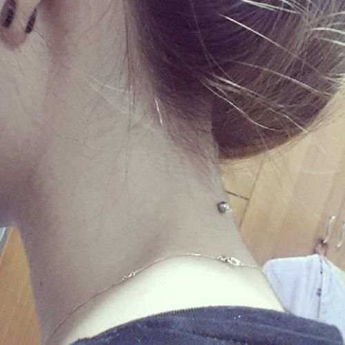 so far so good. my Nape piercing is worth it. Feelinggood Napepiercing Love Piercing somethingdifferent
