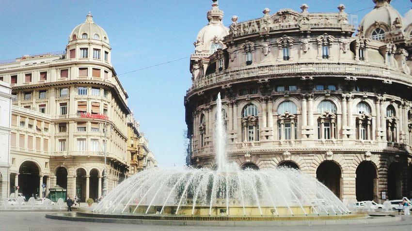 """""""Piazza De Ferrari"""". Buildings Plazas Fountains My City City Centre City View  Eyeemfilter Point And Shoot Piazza Fontane"""