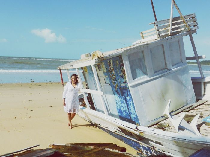 Mulher Bahia Brazil Water Full Length Sky Sea Beach One Person Real People