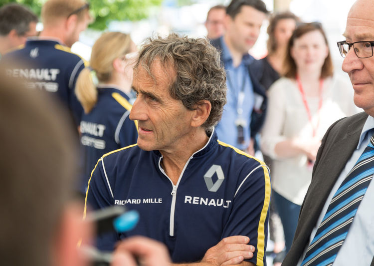 Alain Prost during FIA Formula E race car 2016. French professional racing driver, he began his career with McLaren then with Renault. In 2013 he joined forces with Jean-Paul Driot's DAMS racing team Celebrity Formula E Formula E 2016 Racing Alain Prost E-prix Formula E 2016 Formula E Racing Formulae Pilot Pilots Race Driver Racing Driver Racing Drivers