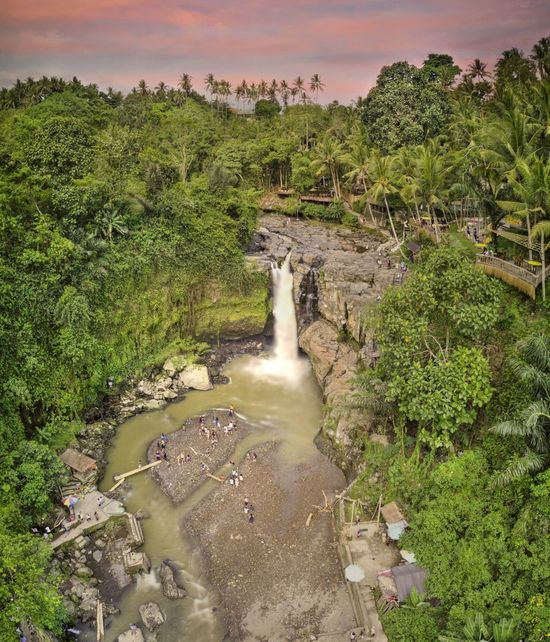 Tegenungan Waterfall, Bali Bali Bali, Indonesia Tree Water Nature Green Color Environment Beauty In Nature Scenics - Nature Growth Motion Sky Landscape Land Travel Destinations Travel High Angle View Outdoors Flowing Water Flowing Power In Nature Waterfall Tegenungan Waterfall, Bali