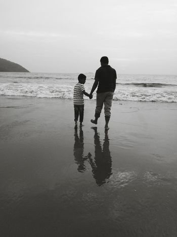 Child Childhood Boys Family With One Child Bonding Father Togetherness Beach Full Length People Love Silhouette Son Adult Males  Walking Day Summer Standing Playing FatherSonMoments TCPM Father And Son Time Fatherhood Moments Father And Son
