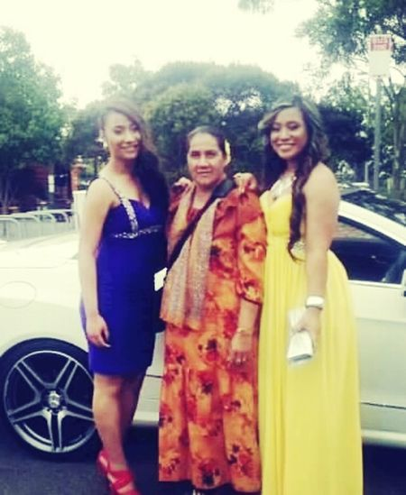 formal with the twinnie and mother <3