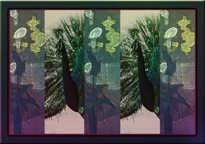 Art Art Deco Creativity Flowers Green Green Color Pavo Pavone Photomanipulation Photomontage Purple