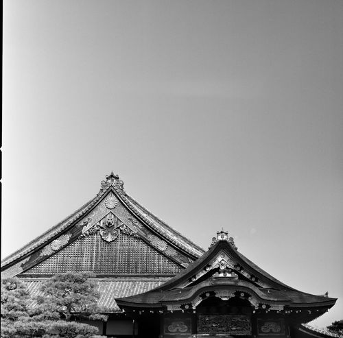 Analogue Photography Black & White Film Japan Japan Photography Japanese Culture Japanese Temple Roof Rooftop Analog Architecture Blackandwhite Blackandwhite Photography Building Exterior Built Structure Film Photography Filmcamera Filmisnotdead Hasselblad Low Angle View Old Buildings Rooftops Temple - Building Temple Architecture Templephotography