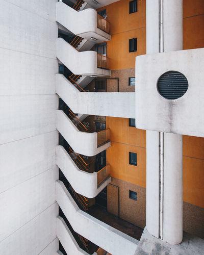 Tilt image of building in city