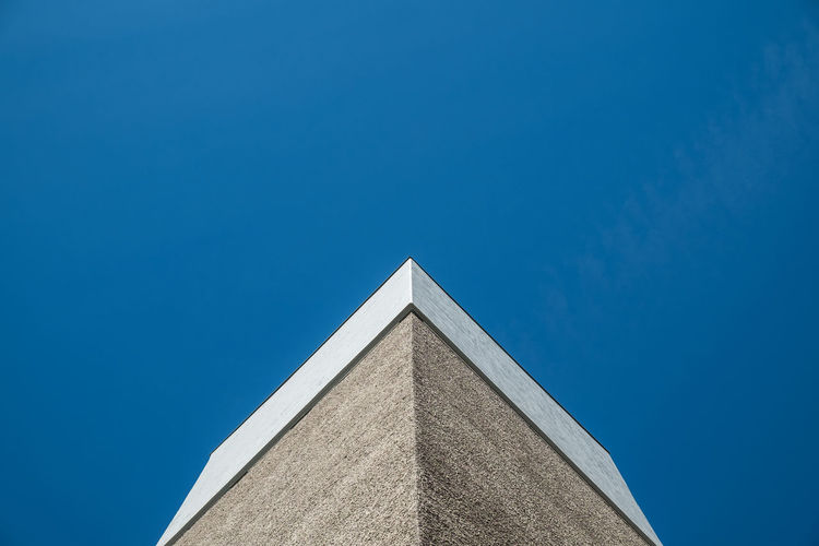 Architectural Detail Architecture Berlin Blue Blue Sky Building Exterior Buildings & Sky Built Structure Clear Sky High Section Low Angle View Minimalism No People Simplicity Sky