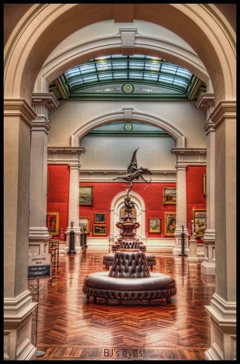 City library Architecture Built Structure Arch Building Indoors  Architectural Column Entrance Ceiling