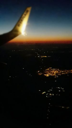 finally The Holidays Air View Sardinia Sunset From Airplane Window City From Air Traveling Photography In Motion Travel Aerial View Aerial Photography Airplane Go To Sea Flying High