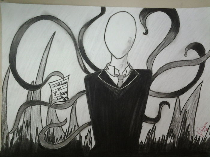 My Drawing SlenderMan I Love It ❤ Scary