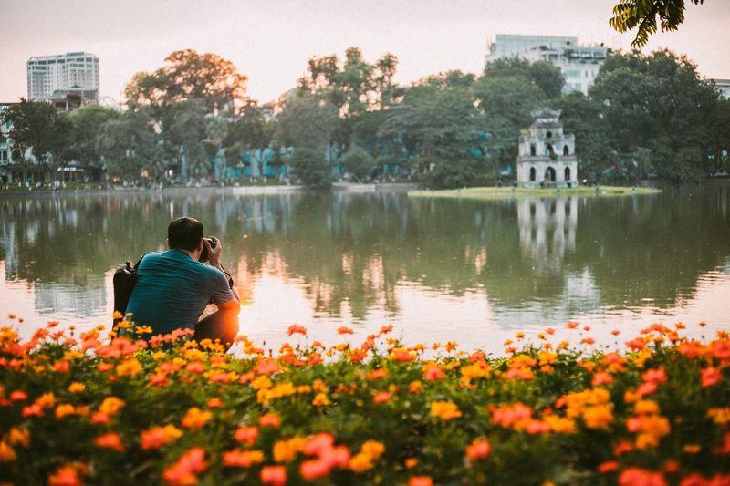 Hanoi Vietnam Hanoi Streetphotography Built Structure Building Exterior Architecture Plant Lake Water Nature